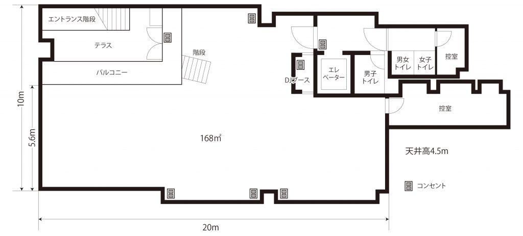 アルベホール名古屋のフロア図面